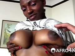 Anal Casting for African Cutie