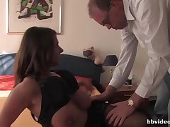 Very hot German mature lady fucked hard
