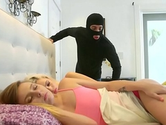 Teen Enjoying Sneaky Rough Fuck With a Masked Thief - Kimberly Moss