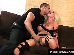 Blonde Amazon Puma Swede Pussy Pounded In High Heeled Boots!