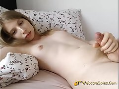 Cute American Amateur Shemale Masturbate 163637C0818-10130 - HD WebcamSpies.Com