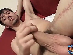 Big dick twinks stroking on their long cut boners