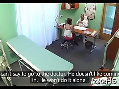Squelching cookie of a doctor endures hardcore fucking