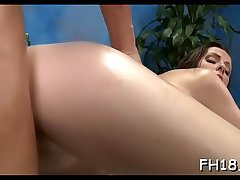 Lovely playgirl loves massage and big cock  in her pussy