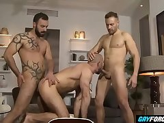 GayForced.com - Hardcore Anal Sharing Big Boyfriends at Home