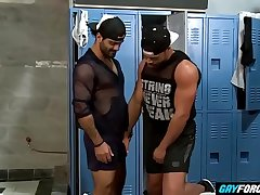 GayForced.com - Muscle Guys Big Black Cock Anal Destroying
